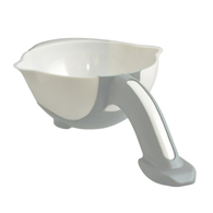 Ableware 745200000 Stay Bowl by Maddak-White/Light Gray
