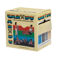 CanDo Low Powder Exercise Bands-25 Yard Rolls