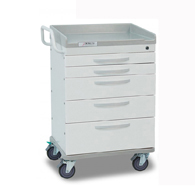 Detecto Whisper Isolation Medical Carts-White