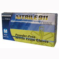 McKesson 14-060-XL NITRILE 911 Powder Free Nitrile Exam Gloves-100/Box