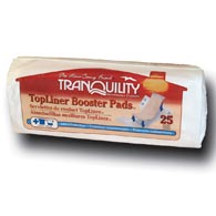 Tranquility 2070 TopLiner Booster Pad Medium Diaper Inserts-25/Bags